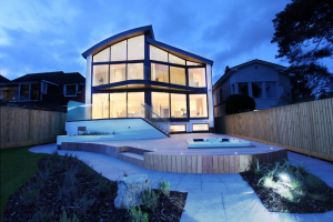 Branksea Avenue, Poole - Rear View, Hot Tub, Nighttime View