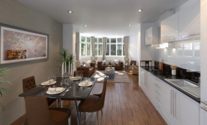 Roslin Road - Kitchen / Living Area
