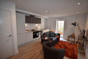 The Old Sorting Office, Albert Road, Bournemouth - Kitchen / Living Area - show Flat One Bedroom